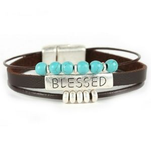 "Jewelry - BLESSED"" Leathe Magnetic Finish"
